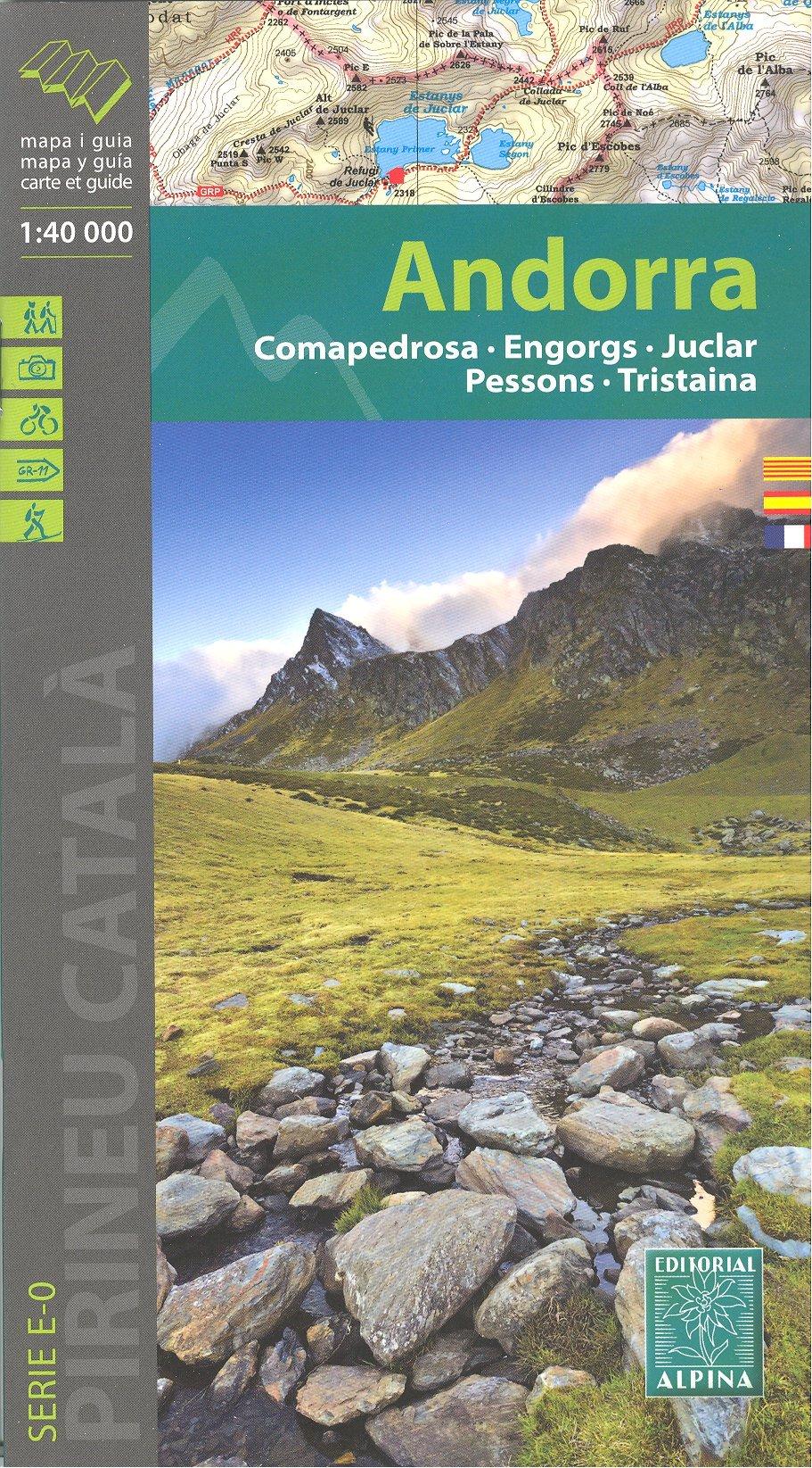 Andorra Pirineos 1:40.000 topográfico senderismo mapa de ...