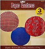Amscan 24127824cm Western Papier Lanternes