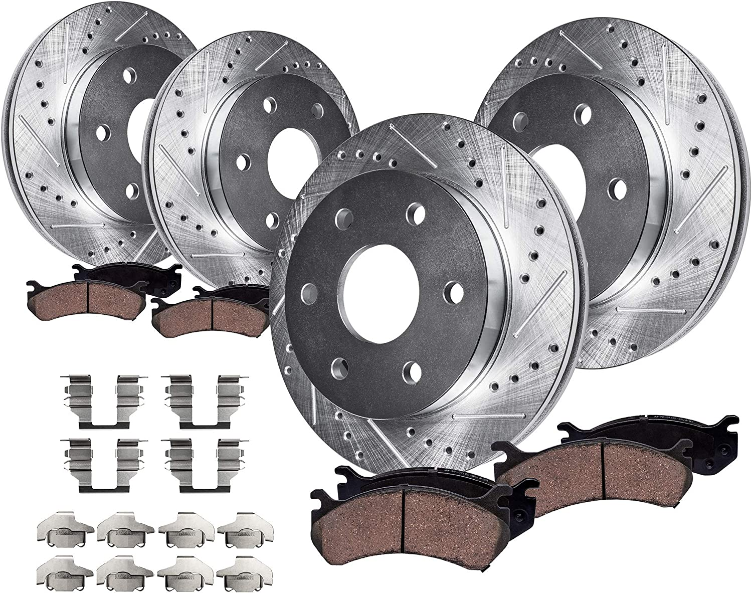 2005 2006 For GMC Yukon Rear Disc Brake Rotors and Ceramic Pads 330mm Rotor