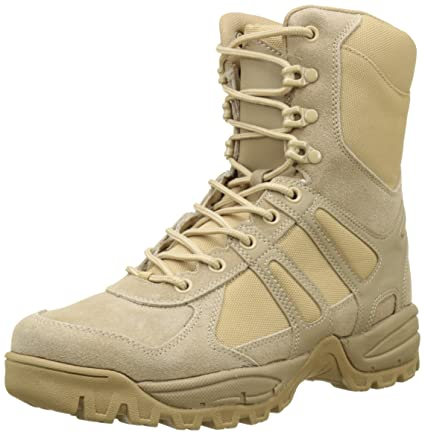 557512276ffa18 Image Unavailable. Image not available for. Color: CamoOutdoor Security  Police Army Combat Leather Boots Generation II Mens Tactical Khaki Size 10