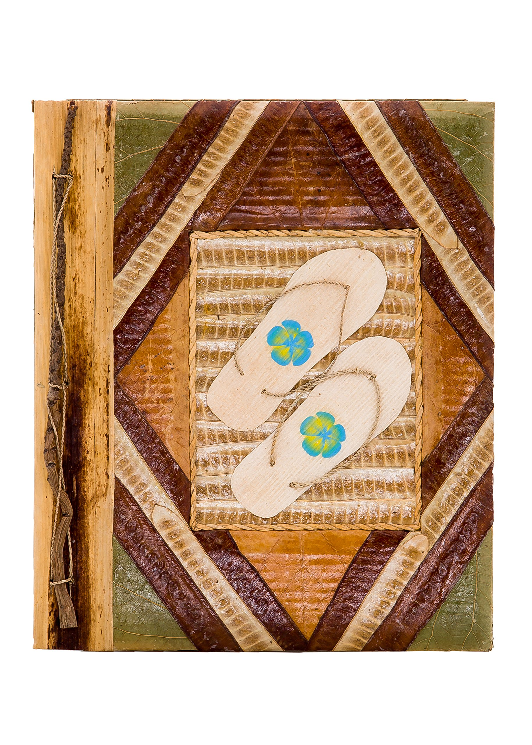 DK Hawaiian Collections Natural Banana Leaf Notebook Style Photo Album (Large, PTL3-LARGE)