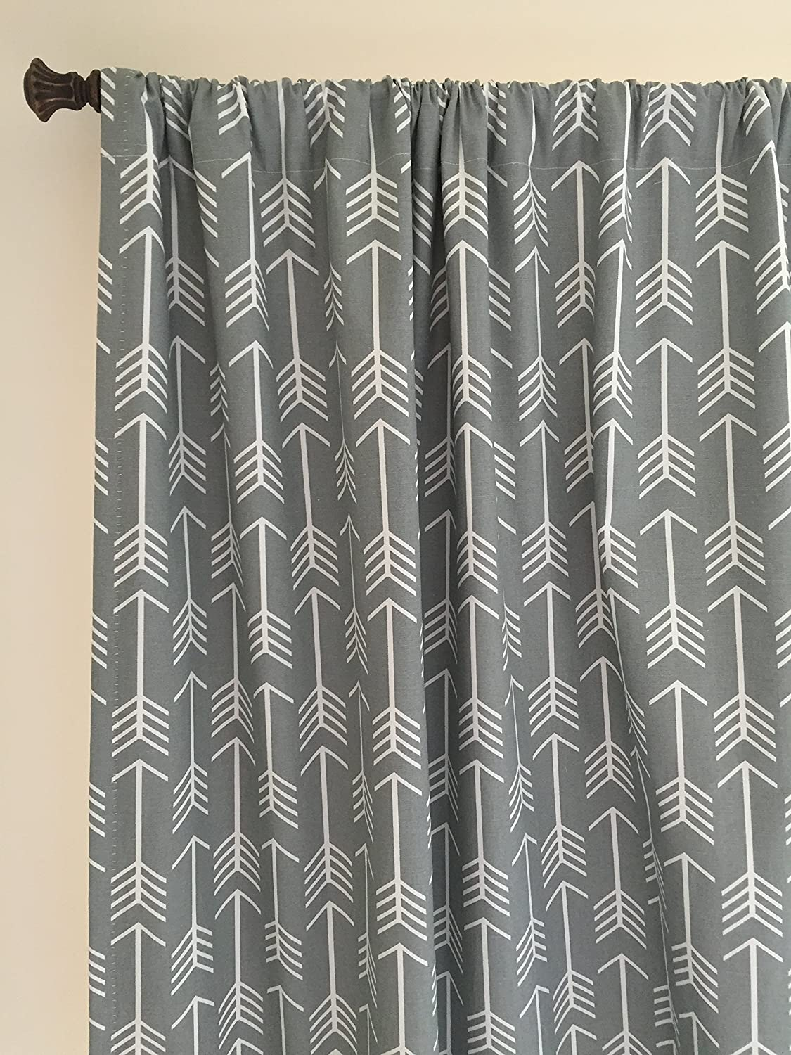 Amazon.com: Arrow Curtain Panel Set Navy Arrow Curtains Coral Drapes Gray Arrow  Curtain Panels Mint Arrow Curtains Nursery Curtains Set Of 2 Choose Fabric  ...