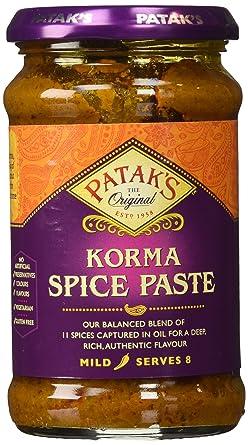 Pataks Korma Curry Paste Coconut Coriander Mild 10 Oz Pack Of 2