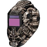 Metal Man ATEC8735SGC 9-13 Variable Shade Professional Auto-Darkening Welding Helmet, Techno Skull