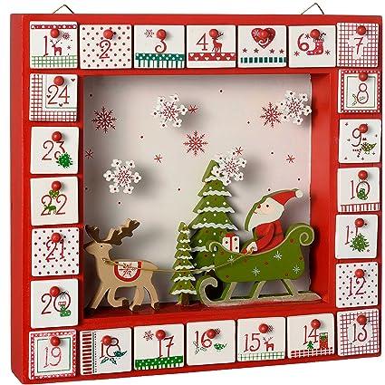 Decoration Calendrier De L Avent En Bois.Werchristmas Decoration De Noel Fenetre Calendrier De L