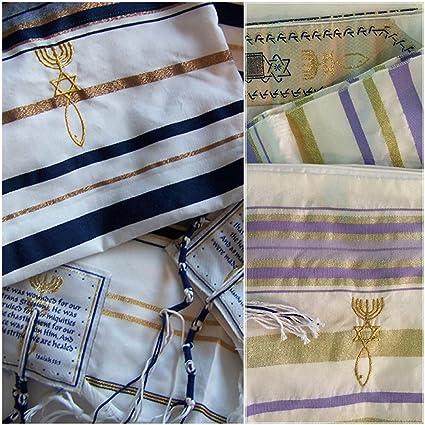 enorme sconto 100% qualità retrò Set di 2 tallit, scialli da preghiera ebraici messianici ...