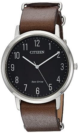 d6dea8993dfc47 Citizen Men's 'Eco-Drive' Quartz Stainless Steel and Leather Casual Watch,  Color