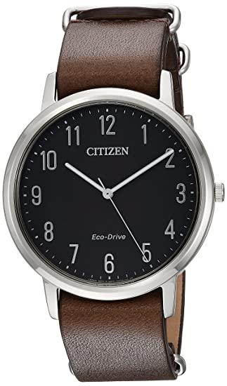 51644293d81d Citizen Reloj de hombre cuarzo 46mm correa de piel de ternero BJ6500-04E   Amazon.es  Relojes