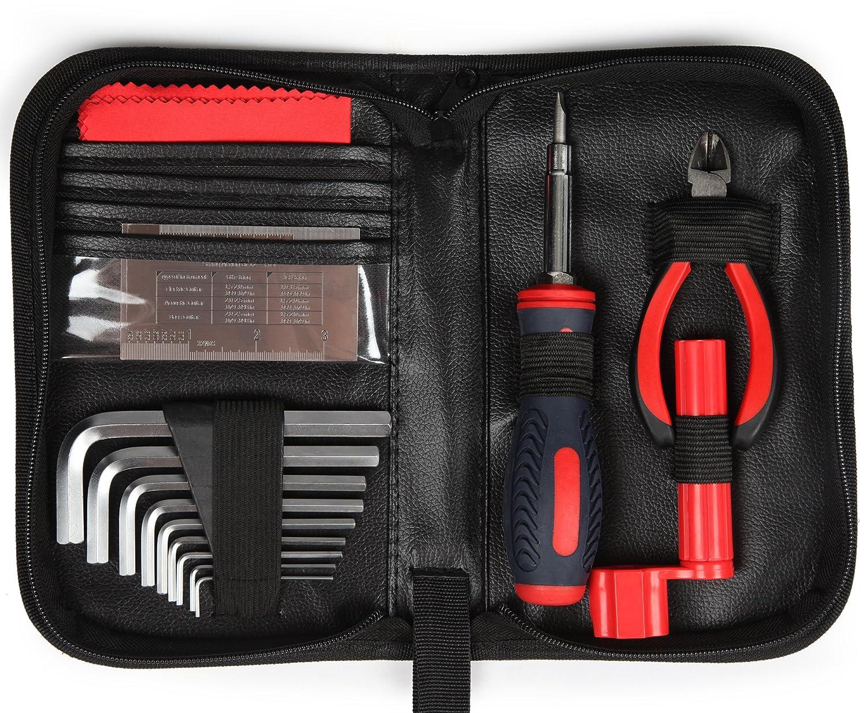 ... de limpieza - Luthier Herramientas de configuración mantenimiento accesorios para guitarra acústica eléctrica y clavijas de puente de graves - cuerdas), ...