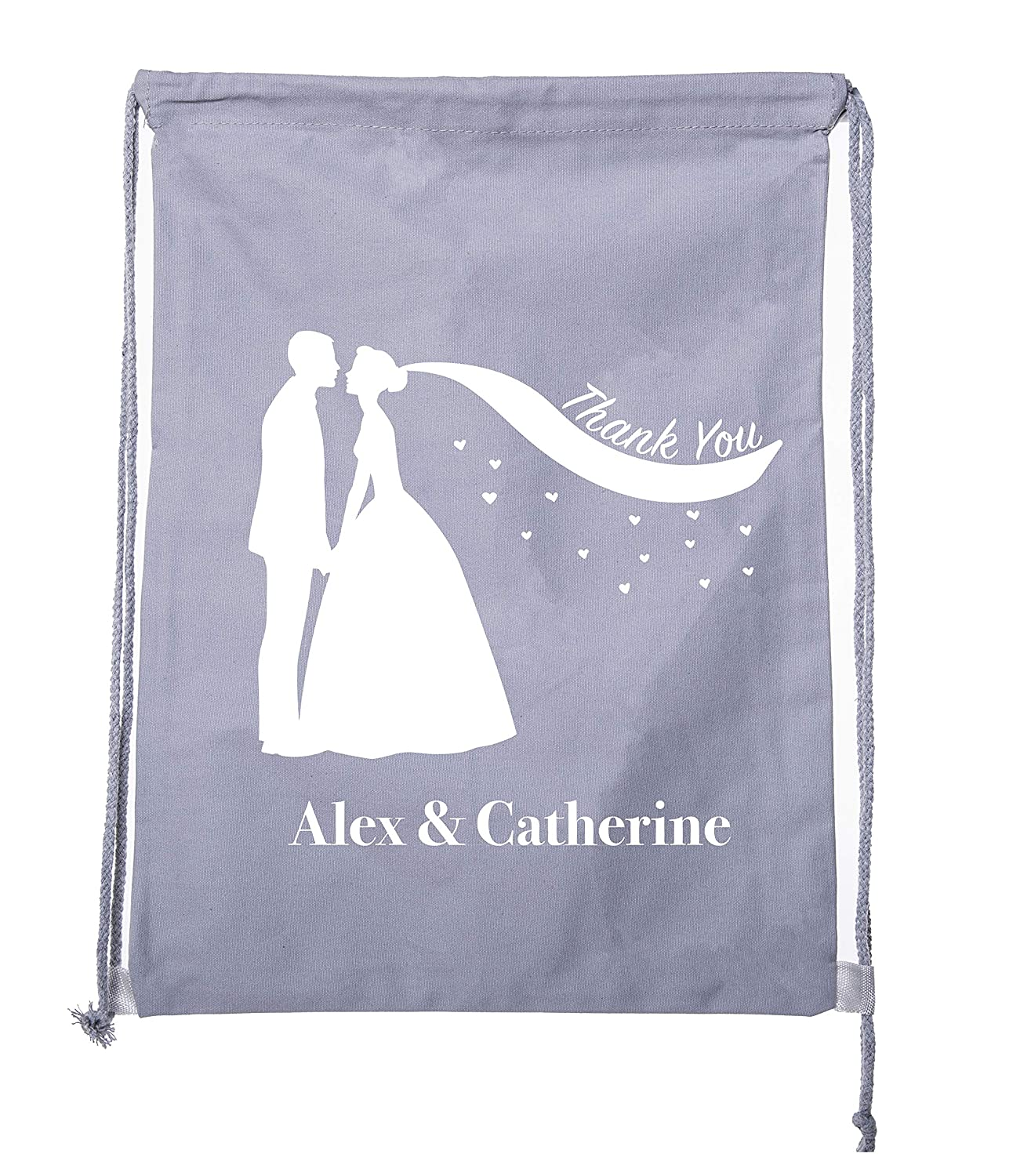 Cotton Drawstring Backpack Favor Bags for Wedding Guest Wedding Welcome Bags