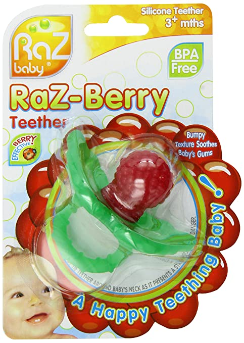 RaZbaby RaZ-Berry - Mordedor, color rojo: Amazon.es: Bebé