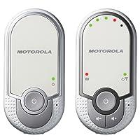 Motorola MBP 11 - Vigilabebés audio con modo eco, color blanco