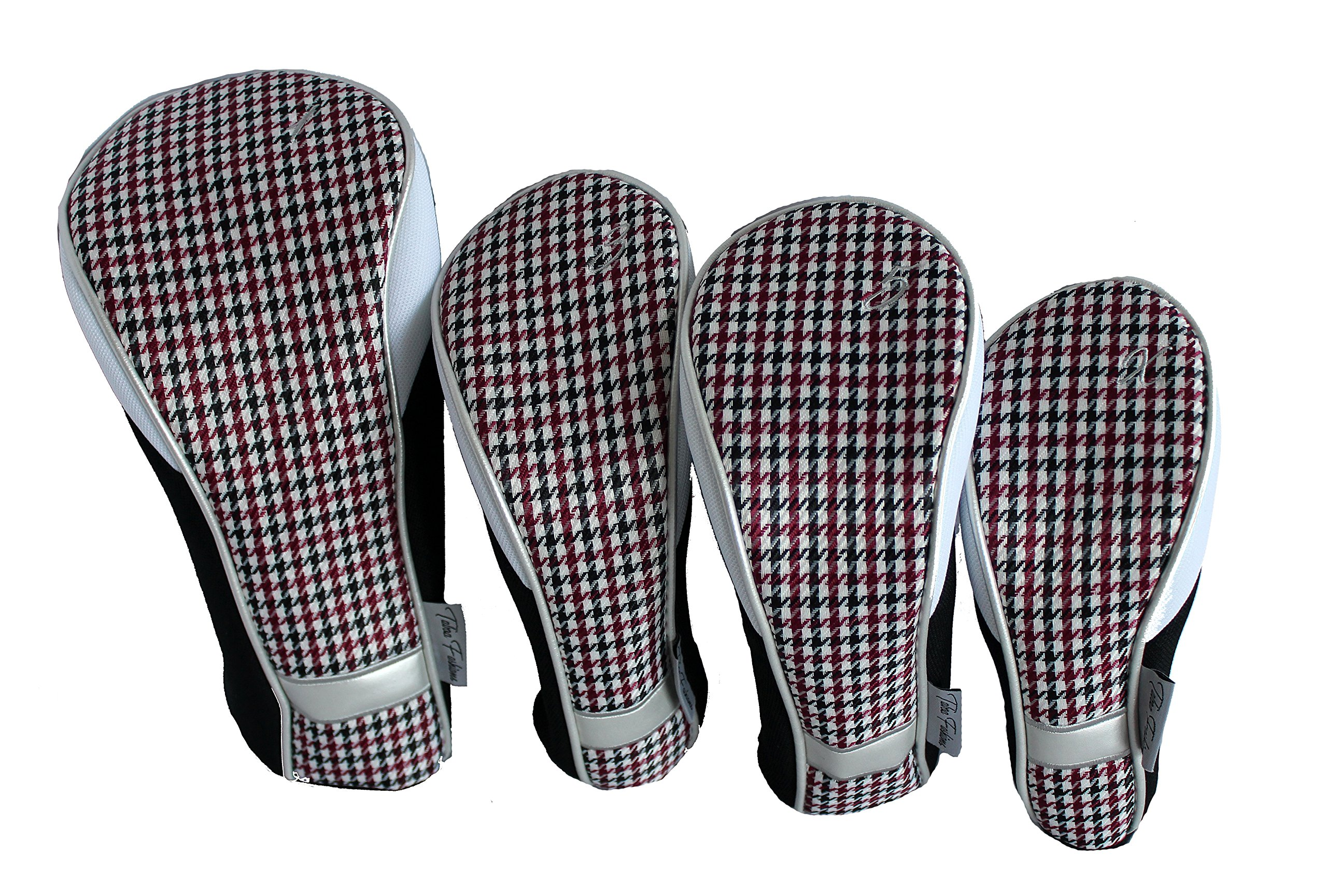 Taboo Fashions 4-Pack Designer Golf Club Cover Head Cover Set (Checkmate)