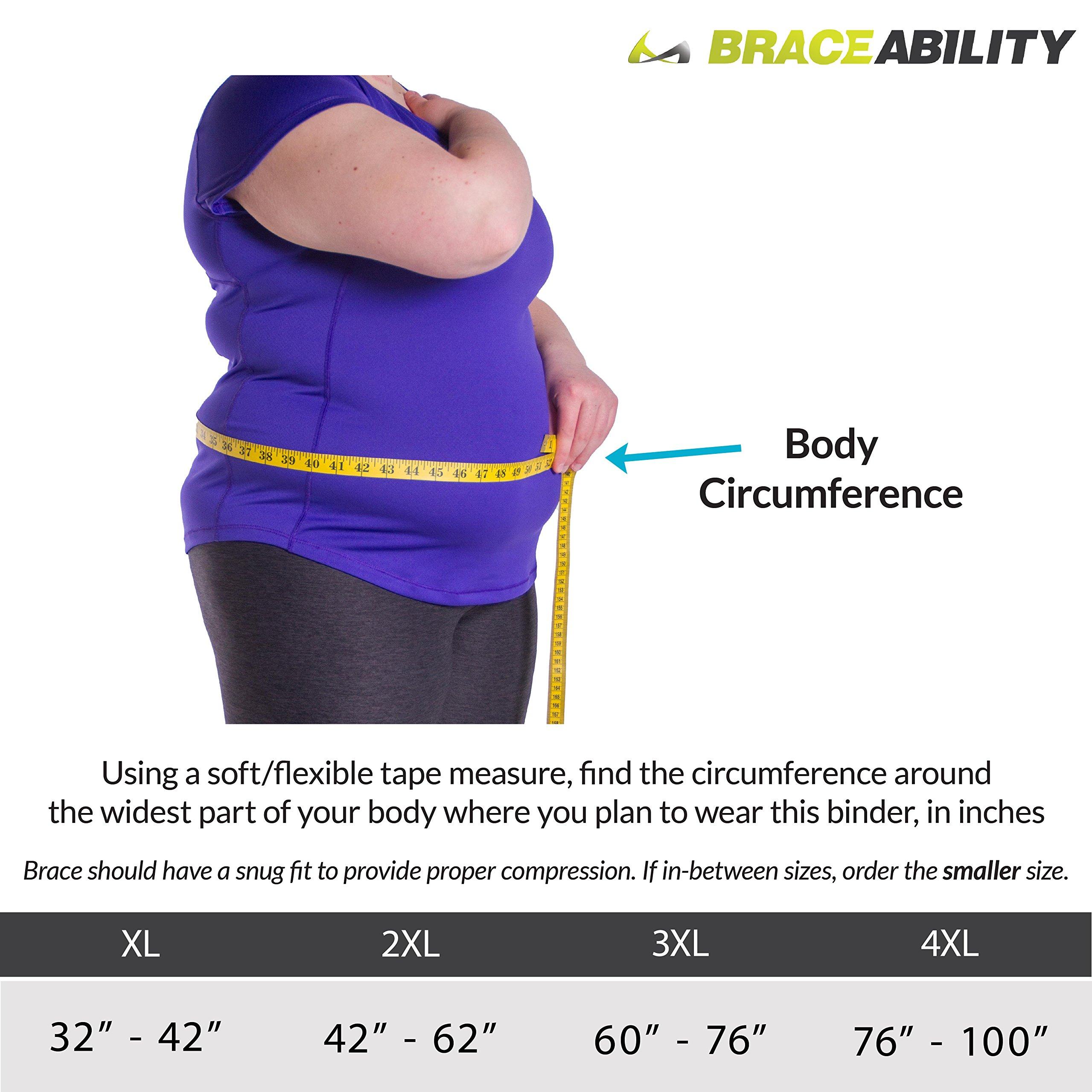BraceAbility 2XL Plus Size Bariatric Abdominal Binder For