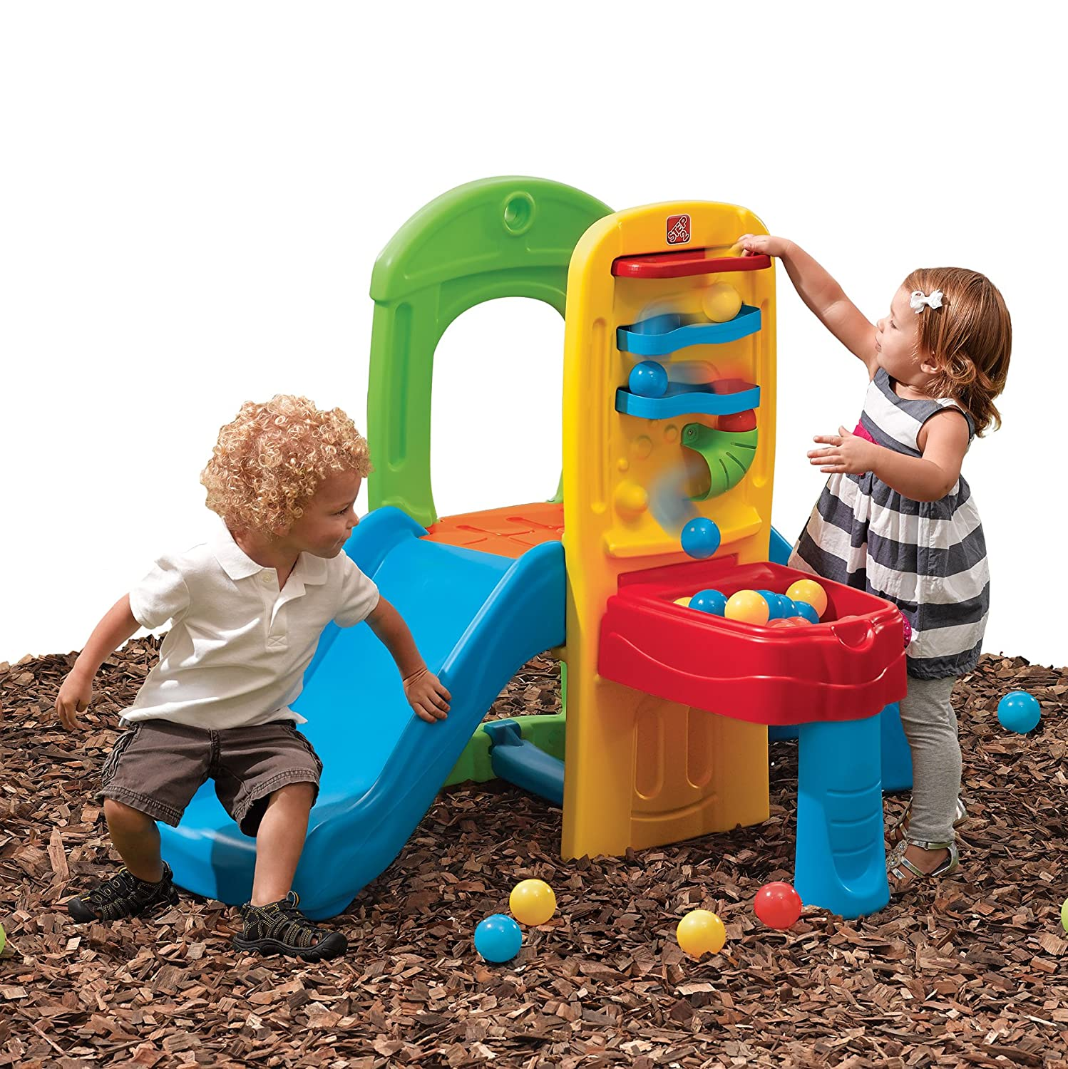 Amazon Step2 Play Ball Fun Climber With Slide For Toddlers
