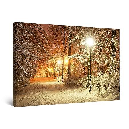 Startonight Quadro su Tela Inverno Parco, Quadri Moderni Paesaggio Stampe  Camere da Letto 60 x 90 cm