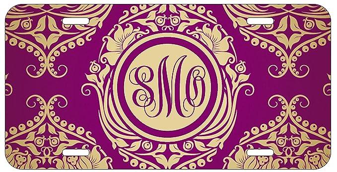Amazon.com: Personalizado Monograma Royal Romance Floral ...
