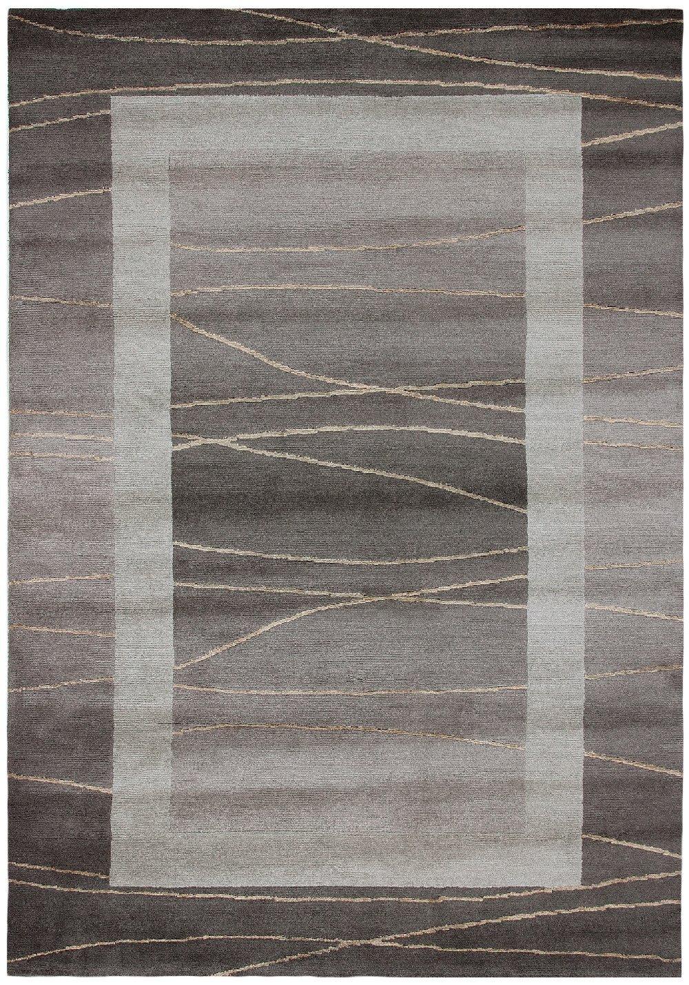 TEPPICHWELT SONA-LUX Nepal Teppich handgeknüpft hellbraun