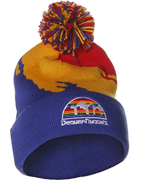 a433cae3942639 Image Unavailable. Image not available for. Color: Mitchell & Ness NBA  Denver Nuggets Basketball Paint Beanie