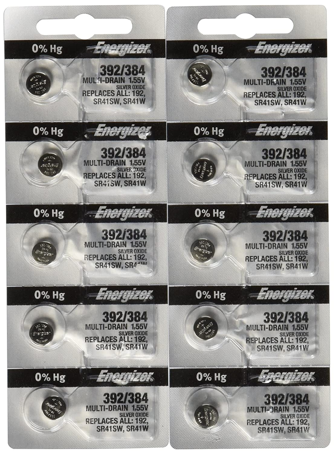 Amazon.com: 10 Energizer Batteries 392/384 Watch Battery Cell: Health &  Personal Care