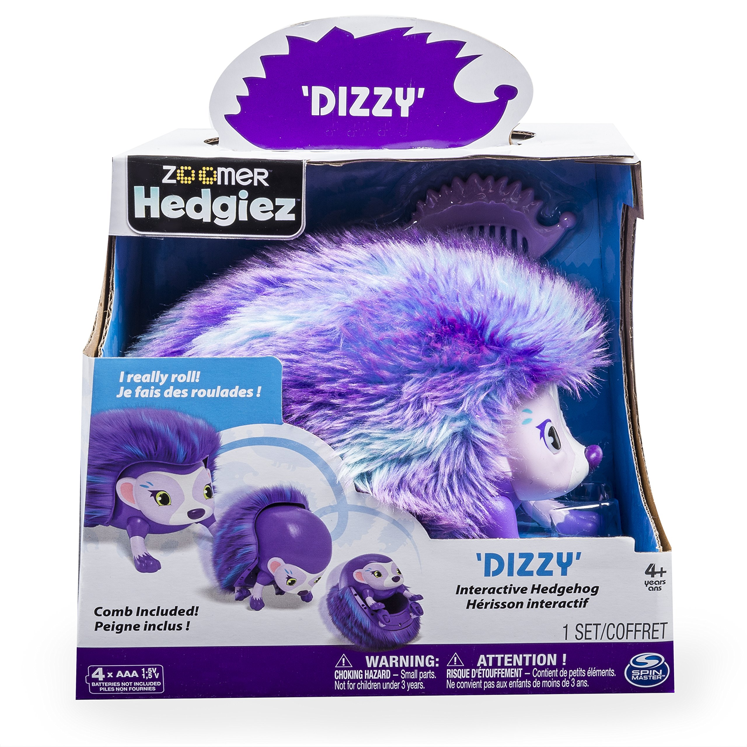 Zoomer Hedgiez, Dizzy, Interactive Hedgehog with Lights, Sounds and Sensors, by Spin Master by Zoomer (Image #1)