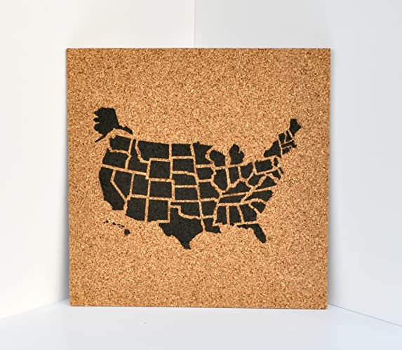 Amazoncom Push Pin Cork Travel Map of the United States