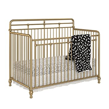 41bafc2b2868 Amazon.com : Little Seeds Monarch Hill Hawken 3 in 1 Convertible Metal  Crib, Gold : Baby