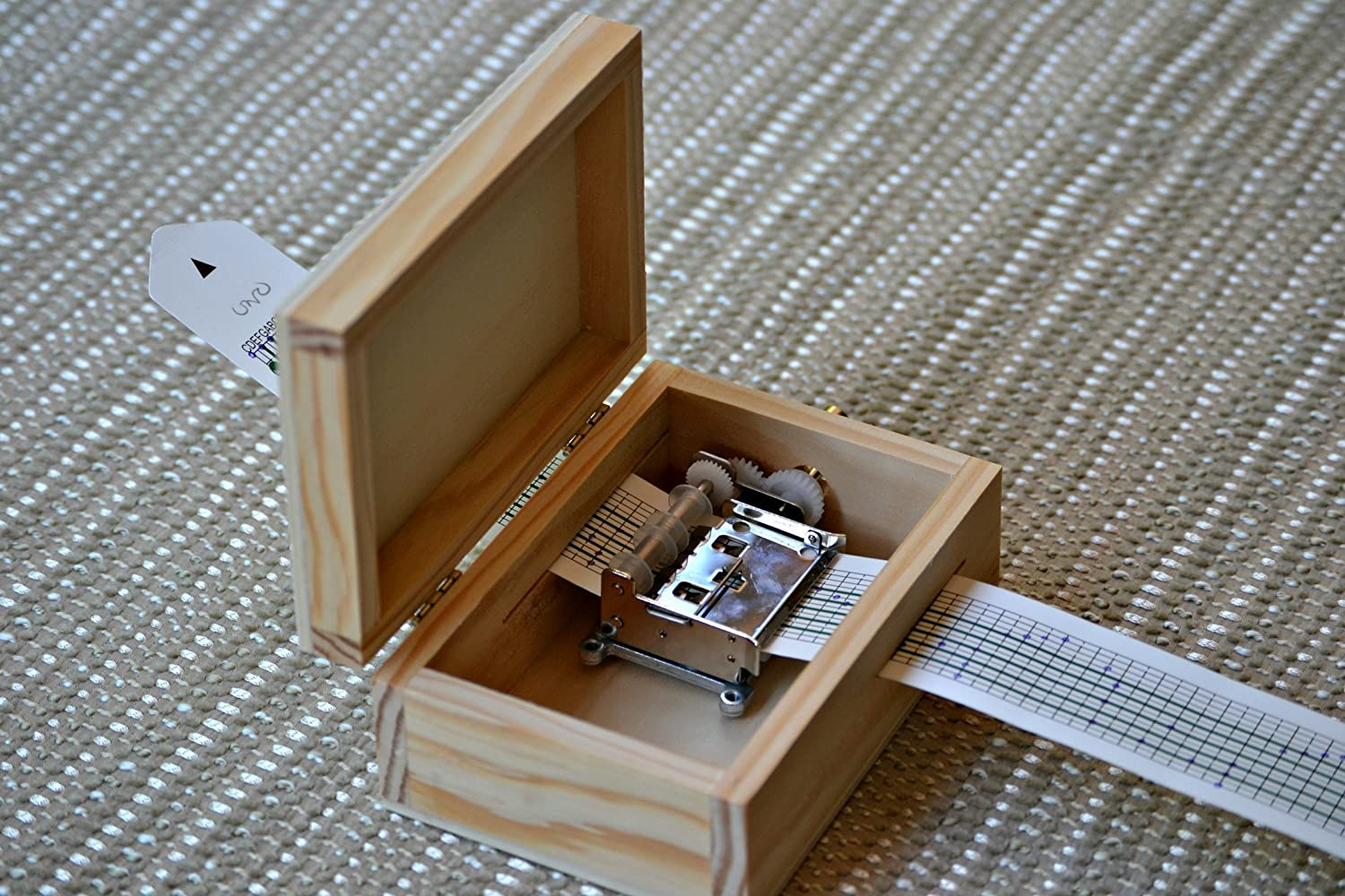 DIY (Do It Yourselve) Pack to make your very own music box. Great gift for music lovers. The pack contains: A blank wooden music box and a musical mechanism that you can personalize....