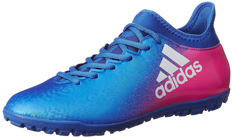 Adidas X 16.3 TF Football Trainers - Blau Weiß Shock Pink - Größe 11