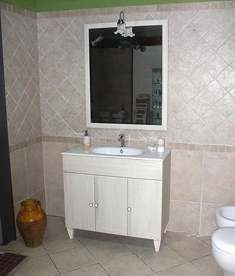 Mobili Bagno Decape Prezzi.Mobile Bagno A Terra Ines Decape Cm 90 Con Specchio Applique E