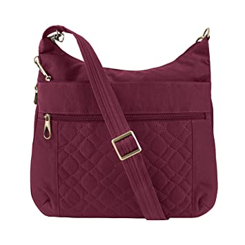 817663949f Amazon.com: Travelon Women's Anti-Theft Signature Quilted Expansion  Crossbody Cross Body Bag Ruby One Size