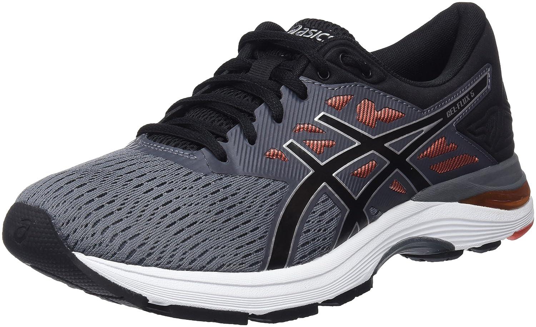 Asics Gel-Flux 5, Zapatillas de Running para Hombre 42.5 EU Multicolor (Carbon/Black/Cherry Tomato 9790)