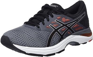 Asics Gel-Flux 5, Chaussures de Running Homme, Multicolore (Carbon/Black/Cherry Tomato 9790), 44.5 EU