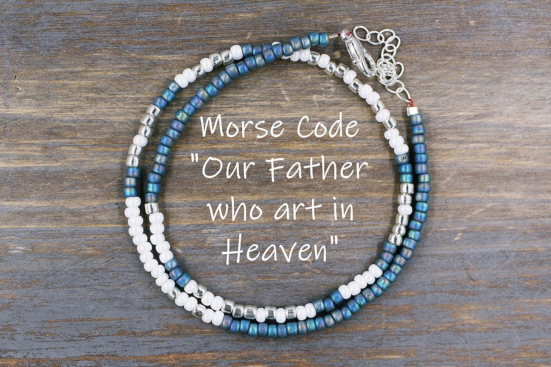 Our Father Prayer Bracelet Morse Code Message
