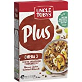 UNCLE TOBYS PLUS Omega 3 Breakfast Cereal, Flaxseed Clusters, Sultanas & Almonds, 430g