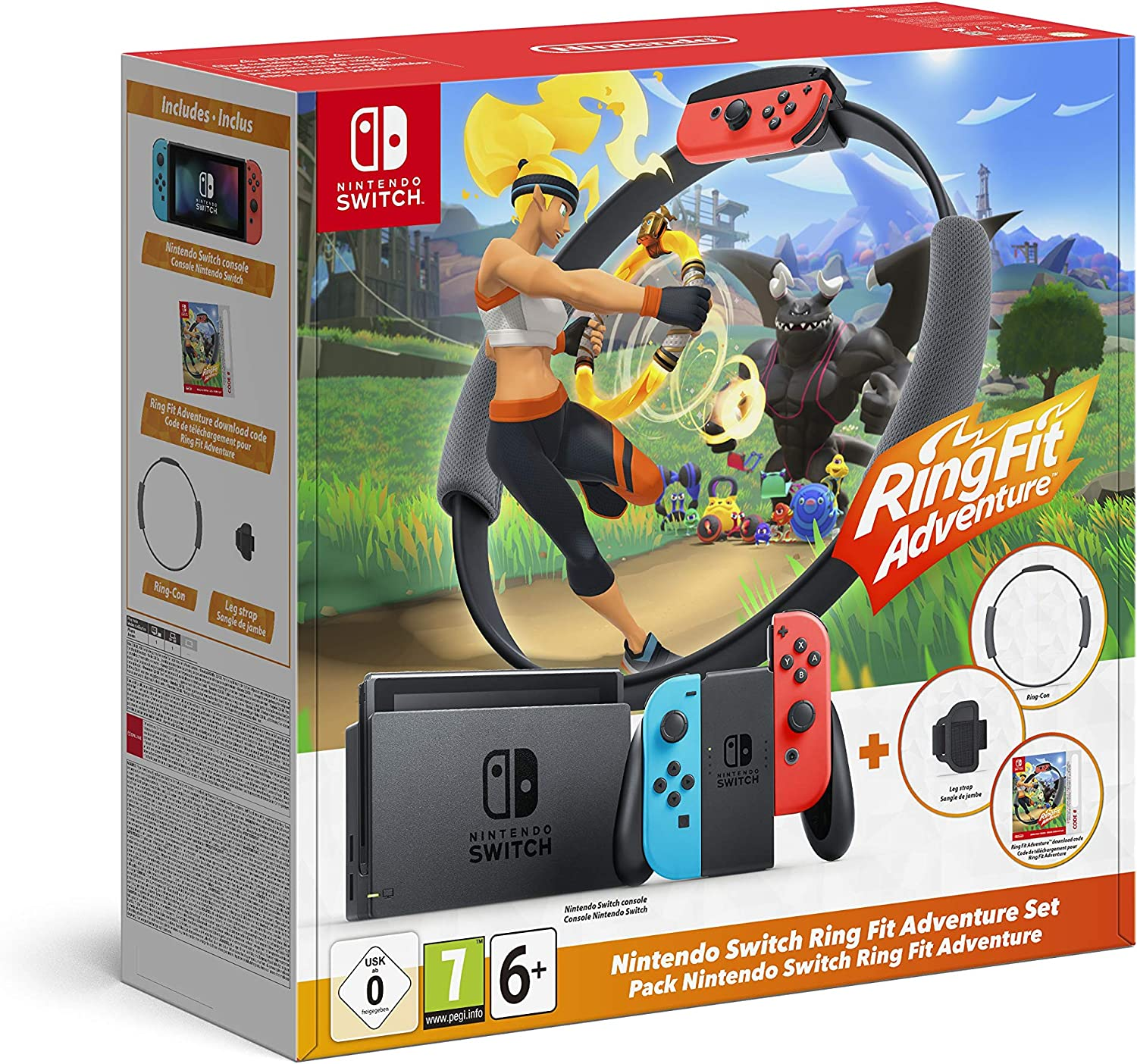 Pack Console Nintendo Switch + Ring Fit Adventure en promotion