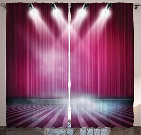 Amazon.com: Home Decor Dream Pub Theatre Stage Aubergine Drapes ...