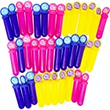 Boley (36PK) Bubble Sticks Pack - Blue, Yellow, and Pink Bubbles For Kids - Large Bulk Pack For Party Favors and Gifts