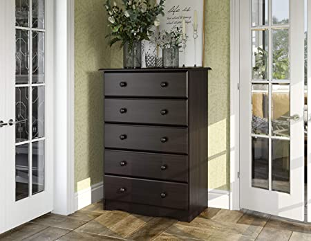 Amazon Com 100 Solid Wood 5 Drawer Chest By Palace Imports Java Color 32 W X 44 5 H X 17 D Metal Antique Brass Knobs Sold Separately Requires Assembly Furniture Decor