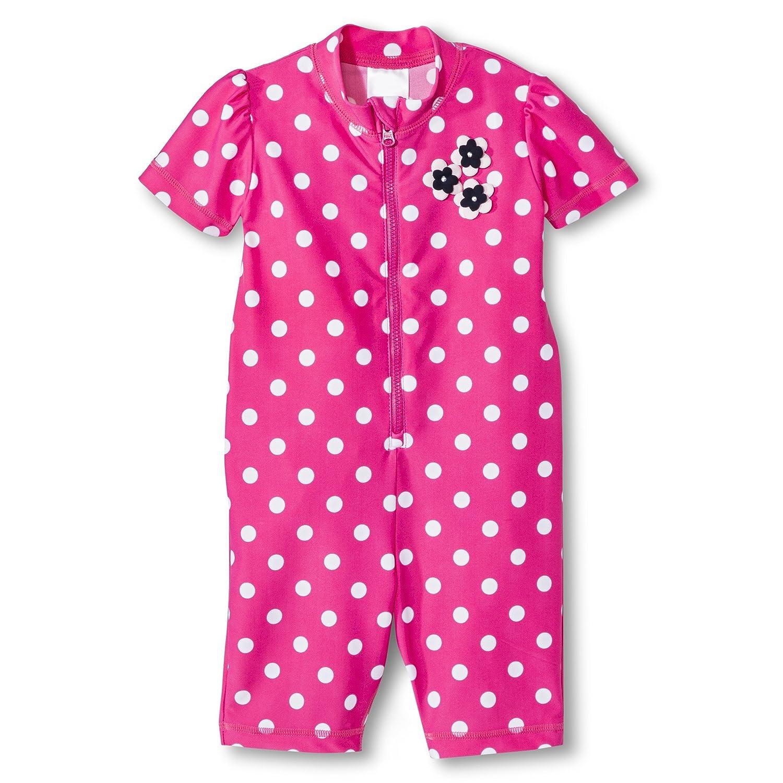 Just One You by Carter's Baby Girls' Full Body Rash Guard - Polka Dot
