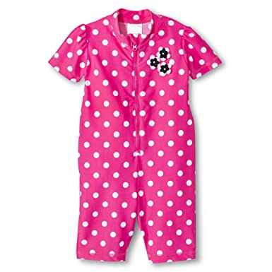 Just One You by Carter's Baby Girls' Full Body Rash Guard - Polka Dot