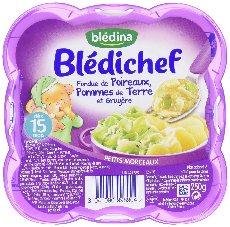 Blédina Blédichef Fondue de Poireaux Pommes de Terre Gruyère dès 15 mois 250 g - Pack de 9 BLEDINA 3041090998904