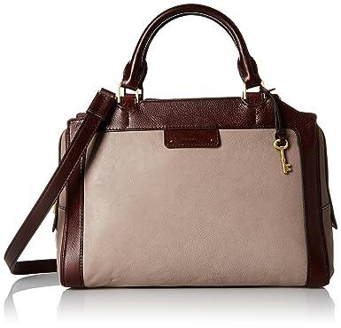 Fossil Logan Large Satchel, Grey: Handbags: Amazon.com