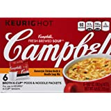 Campbell's Fresh-Brewed K-Cup Soup, Homestyle Chicken Broth & Noodle Mix, 6 Count