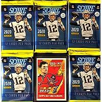 $26 » NEW 2020 Panini SCORE Football Packs - 5 Factory Sealed Packs/12 Cards Per Pack - Look For Joe Burrow RCs! - Plus One Custom Tom Brady…