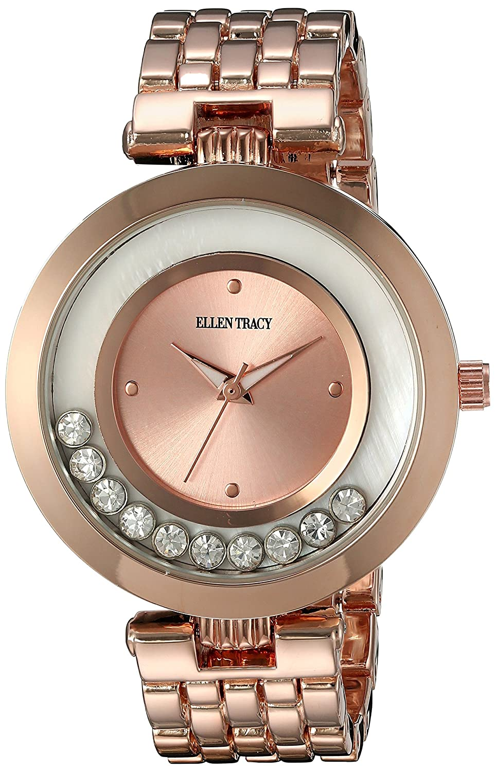 Amazon.com: Ellen Tracy Womens Quartz Metal and Alloy Watch, Color:Rose Gold-Toned (Model: ET5199RG): Watches