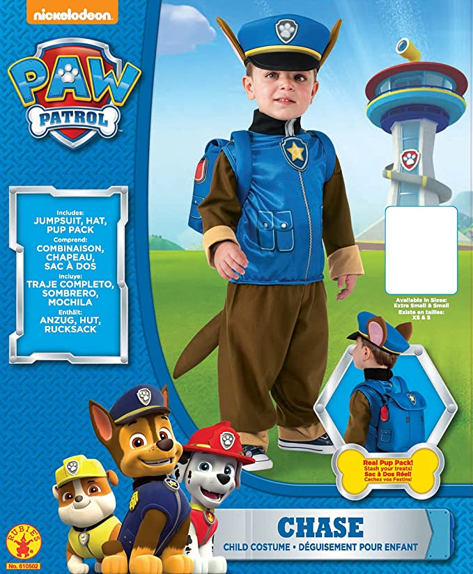 Rubie/'s Toddler PAW Patrol Chase Kids Costume610502