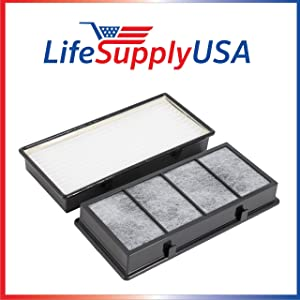 LifeSupplyUSA 2 Pack HEPA Air Filter Compatible with Holmes Honeywell Vicks Part # 16216, HRC1, HAPF30, HAPF30D, HAPF30CS