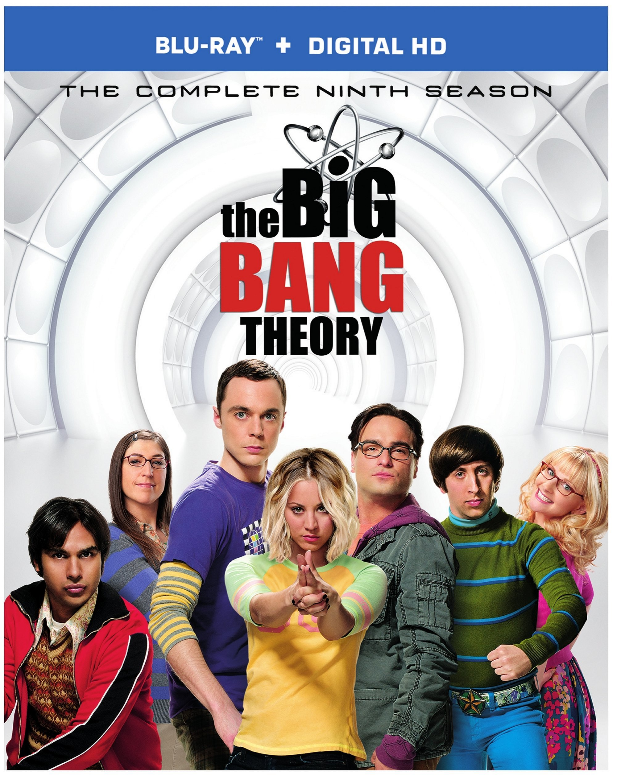 Blu-ray : The Big Bang Theory: The Complete Ninth Season (Dolby, AC-3, , Slipsleeve Packaging, 2 Pack)
