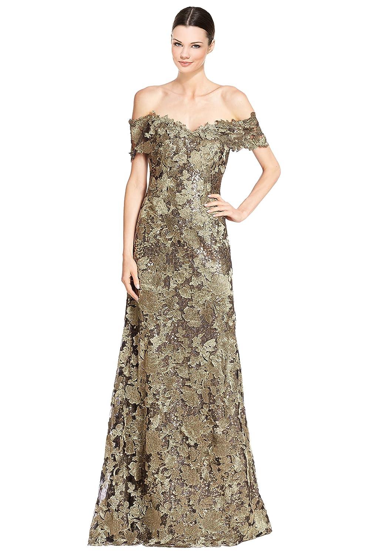 Amazon.com: Rene Ruiz Off Shoulder Embellished Lace Mermaid Evening ...